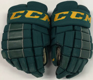 "CCM HG4RRP Pro Stock Custom Hockey Gloves 15"" Vermont #16 2"