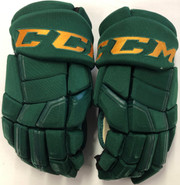 "CCM HGQL Pro Stock Custom Hockey Gloves 15"" Vermont #37 2"