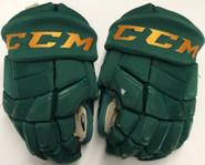 "CCM HGQL Pro Stock Custom Hockey Gloves 13"" Vermont #21 2"