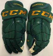 "CCM HG12XP Pro Stock Custom Hockey Gloves 15"" Vermont NEW"