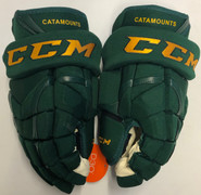 "CCM HG12XP Pro Stock Custom Hockey Gloves 14"" Vermont NEW"