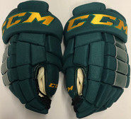 "CCM HG4RRP Pro Stock Custom Hockey Gloves 14"" Vermont NEW #9"
