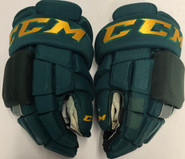 "CCM HG4RRP Pro Stock Custom Hockey Gloves 14"" Vermont #27"