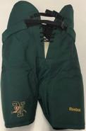 Reebok MHP520S Custom Pro Stock Hockey Pants Green LARGE UVM NCAA New