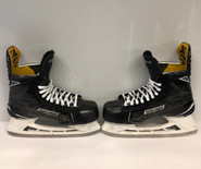 BAUER 1S PRO STOCK ICE HOCKEY SKATES 8 1/2 E USED St. Johns Ice Caps #19