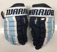 """Warrior AX1 Pro Stock Custom Hockey Gloves 14"""" University of Maine Used #11"""