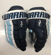 "Warrior AX1 Pro Stock Custom Hockey Gloves 14"" University of Maine Used #13"