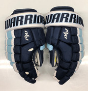"Warrior AX1 Pro Stock Custom Hockey Gloves 14"" University of Maine Used #25"