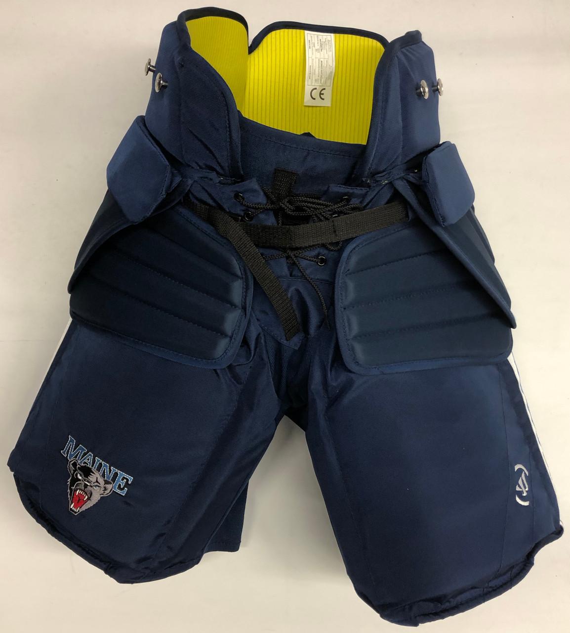 Warrior Custom Pro Hockey Goalie Pants Medium Maine New Dk S