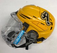 WARRIOR COVERT PX2 PRO STOCK HOCKEY HELMET YELLOW SMALL AIC USED #29