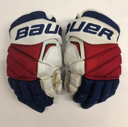 """Bauer Vapor 1X Pro Stock Custom Hockey Gloves 14"""" NY Rangers used FAST NHL (2)"""