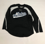 Reebok Edge Custom Pro Stock Black Hockey Practice Jersey MAINE XL