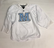 Warrior Custom Pro Stock White Hockey Practice Goalie Jersey MAINE 58G