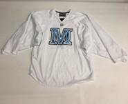 Warrior Custom Pro Stock White Hockey Practice Goalie Jersey MAINE 58G (2)