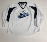 New Balance Custom Pro Stock White Hockey Practice Jersey MAINE 56 #34