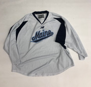 New Balance Custom Pro Stock White Hockey Practice Jersey MAINE 56 #6