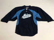 Warrior Custom Pro Stock Navy Hockey Practice Goalie Jersey MAINE 60G