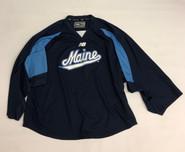New Balance Custom Pro Stock Navy Hockey Practice Goalie Jersey MAINE 60G (2)