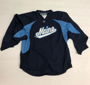 Warrior Custom Pro Stock Navy Hockey Practice Goalie Jersey MAINE 58G