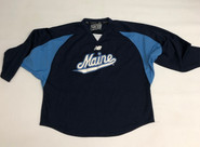 New Balance Custom Pro Stock Navy Hockey Practice Jersey MAINE 56 #34