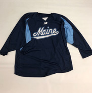 New Balance Custom Pro Stock Navy Hockey Practice Jersey MAINE 2XL #7