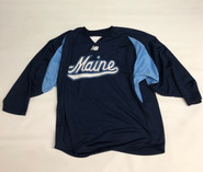 New Balance Custom Pro Stock Navy Hockey Practice Jersey MAINE 2XL #47