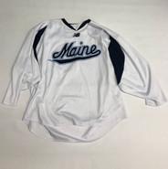 New Balance Custom Pro Stock White Hockey Practice Jersey MAINE 2XL #7