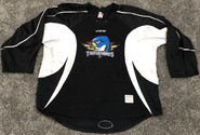 CCM Edge Custom Pro Stock Hockey Practice Jersey Thunderbirds AHL Black  58 Goalie