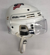 BAUER 4500 PRO STOCK HOCKEY HELMET WHITE SMALL TEAM USA #6