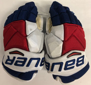 "Bauer Vapor 1X Pro Custom Pro Stock Hockey Gloves 14"" New York Rangers used McDonagh"