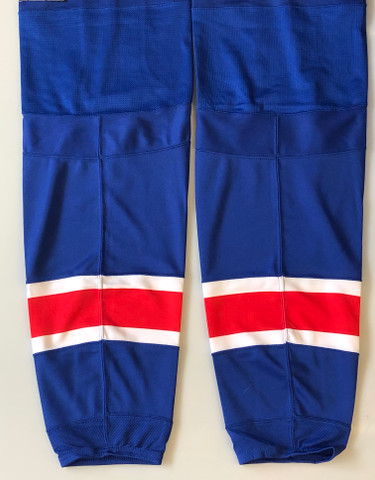 super popular bf2b1 872b1 REEBOK EDGE CUSTOM HOCKEY SOCKS NEW YORK RANGERS ROYAL BLUE PRO STOCK NHL  XL NEW