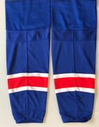 REEBOK EDGE CUSTOM HOCKEY SOCKS NEW YORK RANGERS ROYAL BLUE PRO STOCK NHL XL NEW