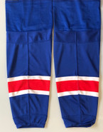 REEBOK EDGE CUSTOM HOCKEY SOCKS NEW YORK RANGERS ROYAL BLUE PRO STOCK NHL LARGE NEW