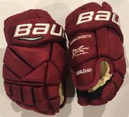 "Bauer Vapor 1X Pro Pro Stock Custom Hockey Gloves 13"" Umass Amherst New"