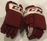 "CCM HG4RPP Pro Pro Stock Custom Hockey Gloves 14"" Umass Amherst New"