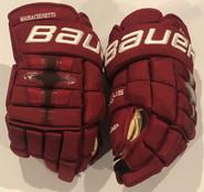 "Bauer Nexus 1N Pro Stock Custom Hockey Gloves 15"" Umass Amherst New"