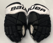 "Bauer 1X Pro Custom Hockey Gloves 14"" Black NCAA Pro Stock #16"