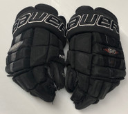 "Bauer Nexus 1N Pro Custom Hockey Gloves 14"" Black NCAA Pro Stock #21"