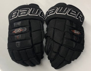 "Bauer Nexus 1N Pro Custom Hockey Gloves 13"" Black NCAA Pro Stock #67"