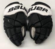"Bauer 1X Lite Pro Custom Hockey Gloves 14"" Black NCAA Pro Stock #6"