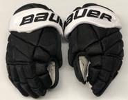 "Bauer 1X Lite Pro Custom Hockey Gloves 13"" Black NCAA Pro Stock #18"