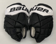 "Bauer 1X Lite Pro Custom Hockey Gloves 13"" Black NCAA Pro Stock #19 2"