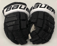 "Bauer Nexus 2N Pro Custom Hockey Gloves 14"" Black NCAA Pro Stock"