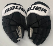 "Bauer 1X Lite Pro Custom Hockey Gloves 14"" Black NCAA Pro Stock #27"