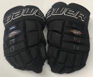 "Bauer Nexus 1N Pro Custom Hockey Gloves 14"" Black NCAA Pro Stock #11"