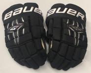"Bauer Nexus 1000 Pro Custom Hockey Gloves 14"" Black NCAA Pro Stock"