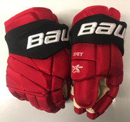 "Bauer Vapor 1X Lite Pro Stock Custom Hockey Gloves 14"" NJ Devils NHL"