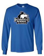 Hazardville Memorial Gildan Cotton Long Sleeve Tee Shirt Royal Blue
