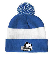 Hazardville Memorial Pennant Varsity Pom Pom Winter Hat
