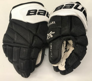 "Bauer Vapor 1X Lite Pro Stock Custom Hockey Gloves 12"" PC #12 Used"